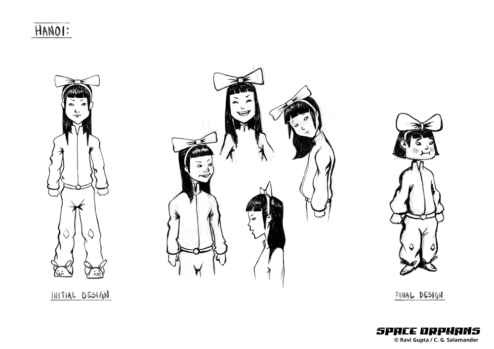Hanoi character design, Space Orphans.